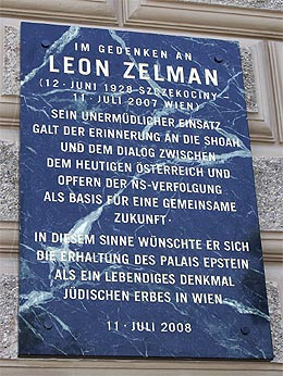 The memorial to Leon Zelman OBM