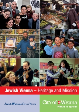 "Cover of the service brochure ""Jewish Vienna"""