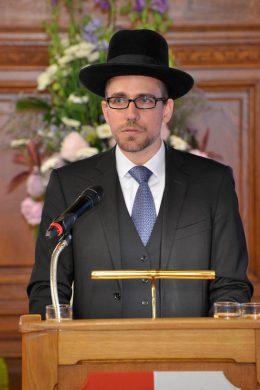 Rabbiner Schlomo Hofeister hielt die Laudatio