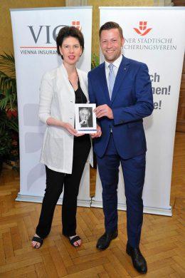 Susanne Trauneck (JWS) und Gemeinderat Marcus Schober