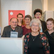 Book presentation at the Jewish Museum Vienna – with Michael Baiculescu, Kathrin Konrad, Tami Kinberg, Susanne Trauneck, Mirjam Prager, Ruth Elkabets (from left to right). © JMW / Andreas Svirak