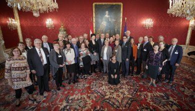 Vertriebene und Nachkommen bei Bundespräsident Alexander Van der Bellen zu Gast. © Peter Lechner / HBF