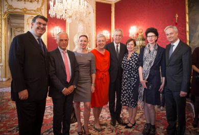 Reception given by Federal President Alexander Van der Bellen and his wife, Doris Schmidauer