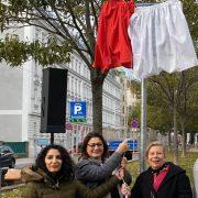 Ari-Rath-Platz, Einweihung, Veronica Kaup-Hasler