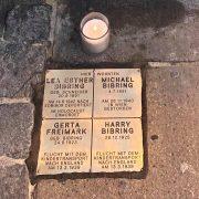 Gedenkstein zur Erinnerung an das Schicksal der Familie Bibring