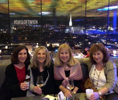 v.r.n.l.: Ruth Rotkowitz mit Anita Baron, Helen Locke und Rebecca Grossbard bei ihrem Wien-Besuch. © Jewish Welcome Service